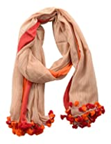 Dushaalaa Women's Scarves (10193.3_Red, Red, L x B : 75 Inches X 43 Inches)