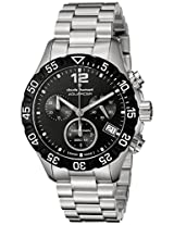 Claude Bernard Men's 10210 3 NIN Analog Display Swiss Quartz Silver Watch