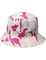 Bucket Hats Washed Cotton (Camouflage + Solid Color Styles- L/XL Sizes) Pink Camouflage/Large AD