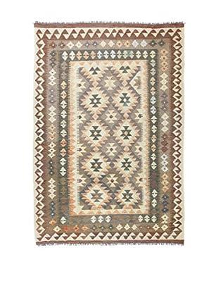 Eden Teppich Kilim-P braun/beige 140 x 200 cm