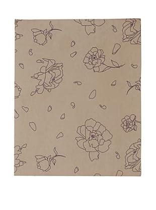 Twinkle Living Rose Fitted Sheet (Walnut/Grape)