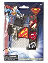 "Dc Comics Superman 34"" Lanyard Key Ring Id Holder With Soft Touch Pvc Logo Charm Super Hero (With Gift Box)"