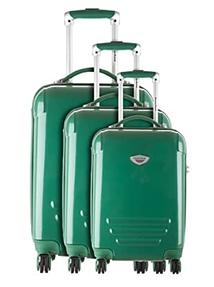 American Revival by Platinium Set 3 Trolleyss 4 Ruedas Colors (Verde)