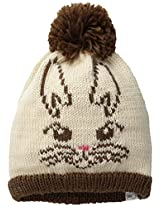 Coal Women's The Whiskers Critter Face Beanie with Pom Pom