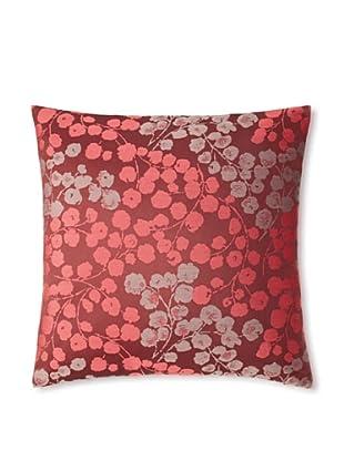 The Pillow CollectionFleur Floral Decorative Pillow, Bordeaux, 18