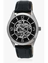 5127401 Black/Black Analog Watch Ted Lapidus