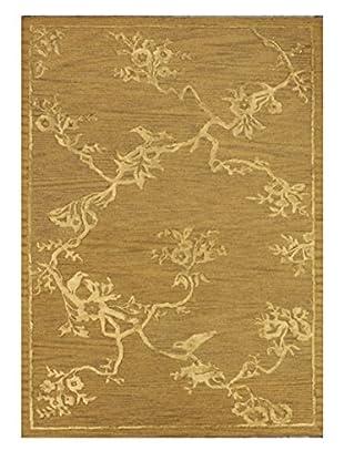 Bird & Blossom Rug, Gold, 5' x 8'