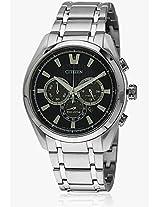 Ca4011-55L Silver/Blue Chronograph Watch CITIZEN