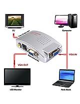 Inovera VGA to Video and S-Video Convertor Selector Box Power Adaptor (Grey)