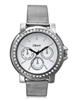 Oleva Ladies Watch with Stainless Steel Dial (OSW-6 WHITE)-White dial