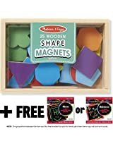 Shapes and Colors Wooden 25 Magnets-in-a-Box Gift Set + FREE Melissa & Doug Scratch Art Mini-Pad Bun
