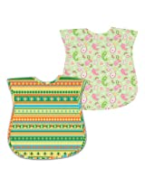 green sprouts 12-24 Months Best Toddler Waterproof Bib, Sage, 2 Pack (Discontinued by Manufacturer)