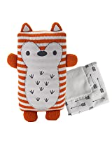 Lolli Living Softie Plush & Blanket - Jacob Fox (Knit) - Stuffed Animal And Security Blanket Set, Cotton Shell, Soft And Comforting For Babies, Toddlers&Children.