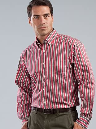 Cortefiel Camisa Rayas (Rojo)