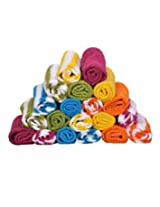 S Kumars Love Touch - Cotton Face Towel - Multi Colour - Pack of 20