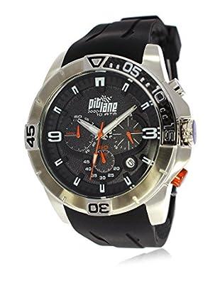 Pit Lane Uhr mit Miyota Uhrwerk Pl-1009-3 schwarz 50 mm