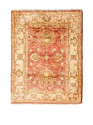 CarpeTrade Alfombra Zigler Extra Rojo/Beige 87 x 62 cm