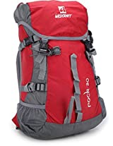 Wildcraft Rock 30 Ltrs Grey and Red Rucksack (8903338005476)