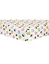 Trend Lab Crib Sheet, Cupcake Scatter