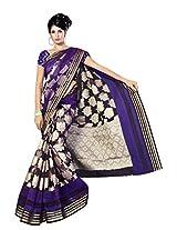 Saree Sansarr Silk Saree With Blouse Piece (211_Purple -Purple)