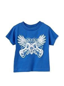 Born 4 Couture Boy's Rock n' Roll Short Sleeve T-Shirt (Royal Blue)