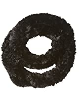La Fiorentina Women's Faux Fur Infinity Scarf, Black, One Size
