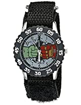 Marvel  Kids' W002228 Avengers: Age of Ultron Hulk Analog Quartz Black Watch
