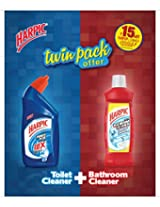 Harpic Toilet Cleaner 500ml + Harpic Bathroom Cleaner 500ml