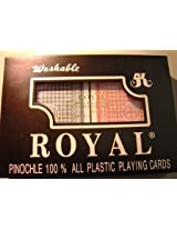 Pinochle Playing Cards Option: Big Number Plastic Cards