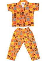 Little Stars Boys' Top and Pyjama Set (Nightsuit_Number_5-6 years, yellow, 5-6 years)