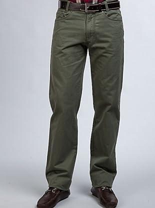 PEDRO DEL HIERRO Pantalón 5 Bolsillos (Verde)