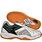 Nivia Mandate Tennis/Court Shoes, White with Green Black 7