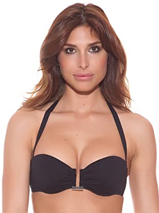 Ana Durán Top Bikini Pétalo (Negro)