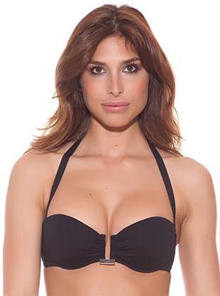 Ana Durán Bikini Top Pétalo (Schwarz)