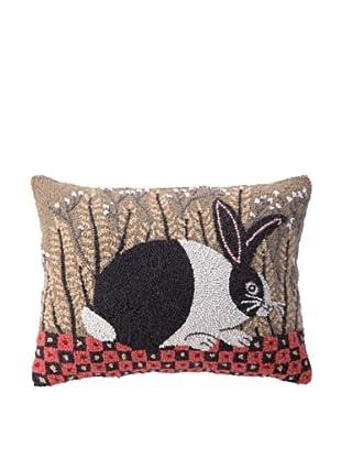 Peking Handicraft Checkerboard Bunny Hook Pillow