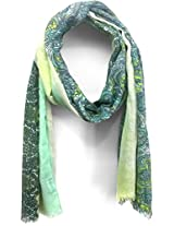 ScarfKing Paisley Design Printed Polyester Women Scarf-Green