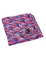 EEF7B03A Pink Blue Paisley Evening Pocket Square Woven Microfiber Hankchief Mens Cufflinks Set For Boyfriend By Epoint