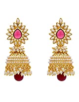 MUCHMORE Party Wear Red brass Jhumki Earring for Women
