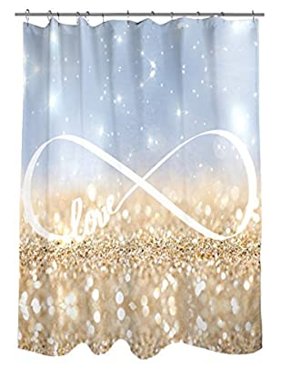 Oliver Gal Infinite Love Sign Shower Curtain, Multi
