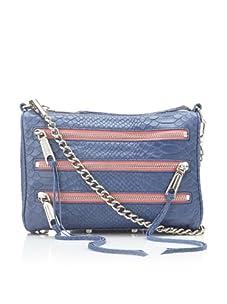 Rebecca Minkoff Women's Mini Snake Zip Shoulder Bag, Blue