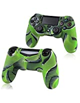 Everydaysource Compatible with Sony PlayStation 4 Controller 4 x Camouflage Navy Green Silicone Skin Case