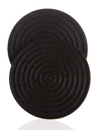Le Creuset Salvamanteles Silicona De 10 Cm. En Negro Pack De 2 Unidades