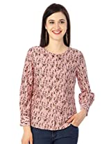 Allen Solly Pink Floral Printed Casual Blouse