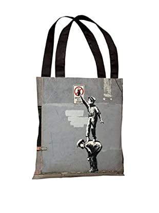 Banksy Graffiti is a Crime Tote Bag