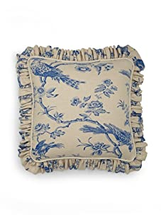 French Laundry Avalon Marine Print Pillow (Natural/Blue)