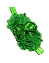 Pikaboo flower bunch green baby headband newborn headband kids hair accessories