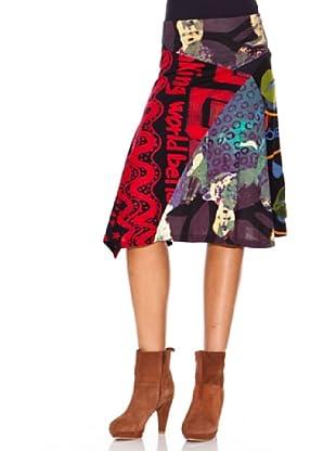 Desigual Falda Afri-Kanos (negro)
