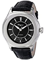 Salvatore Ferragamo Mens FQ1010013 Lungarno Stainless Steel and Leather Automatic Self-Winding Watch