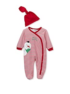 "Rumble Tumble ""My 1st Christmas"" Coverall and Hat Set (Red)"