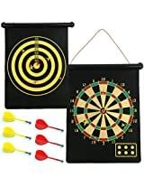 Magnetic Roll-up Dart Board and Bullseye Game w/ Darts